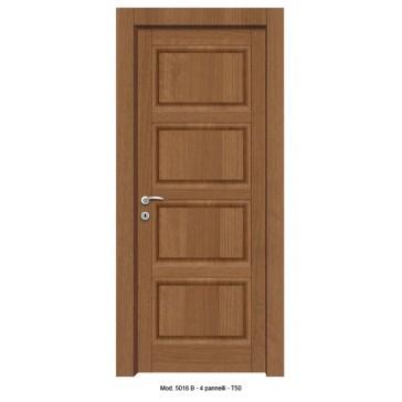 Porta Listellare rivestita in Laminato Modello 5018B - 4 Pannelli Bugnati