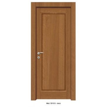 Porta Listellare rivestita in Laminato con Pannelli Bugnati Modello 5018B -  Cieco