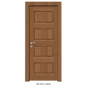 Porta Listellare rivestita in Laminato Modello 5019B - 4 Pannelli