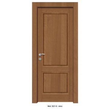 Porta Listellare rivestita in Laminato con Pannelli Bugnati Modello 5021B - Cieco