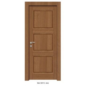Porta Listellare rivestita in Laminato con Pannelli Bugnati Modello 5037B - Cieco