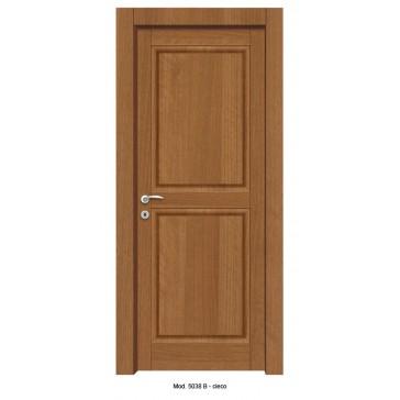Porta Listellare rivestita in Laminato con Pannelli Bugnati Modello 5038B - Cieco