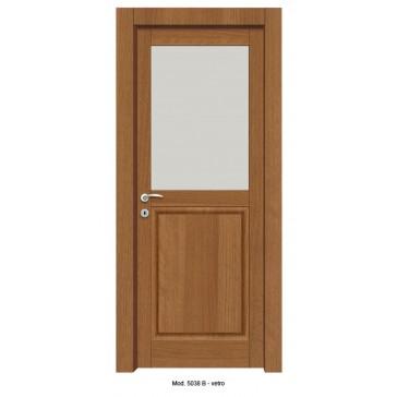 Porta Listellare rivestita in Laminato con Pannelli Bugnati Modello 5038B - Vetro