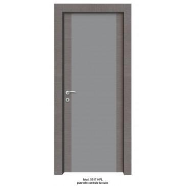 Porta Listellare rivestita in Laminato Modello 5517 HPL con Pannello Centrale Laccato