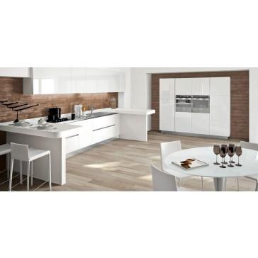 Cucina moderna lucida su misura in vendita a roma for Cucina moderna bianca lucida