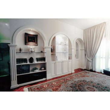 Boiserie classica in legno su misura vendita a roma for Archi arredo roma