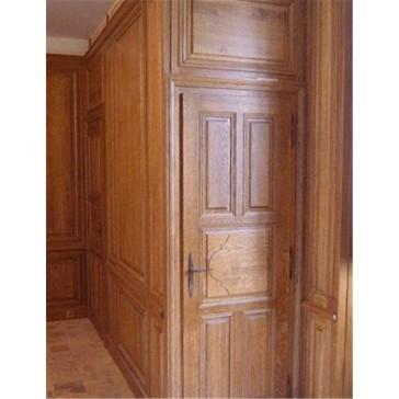 Boiserie su misura in vero legno di rovere