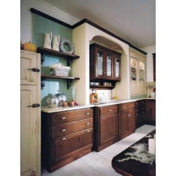 Cucina in legno tinto su misura