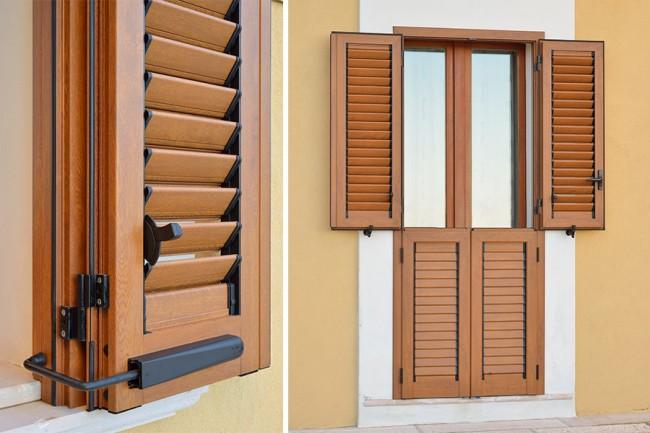 Persiana in alluminio orientabile su misura per finestre e portefinestre a roma - Finestre con persiane ...