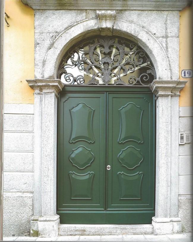 Porta blindata a doppia anta stile classico vendita roma for Porta doppia anta