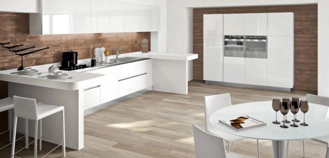 Rivestimenti Per Cucine Moderne In Muratura : Cucina moderna lucida su misura in vendita a roma