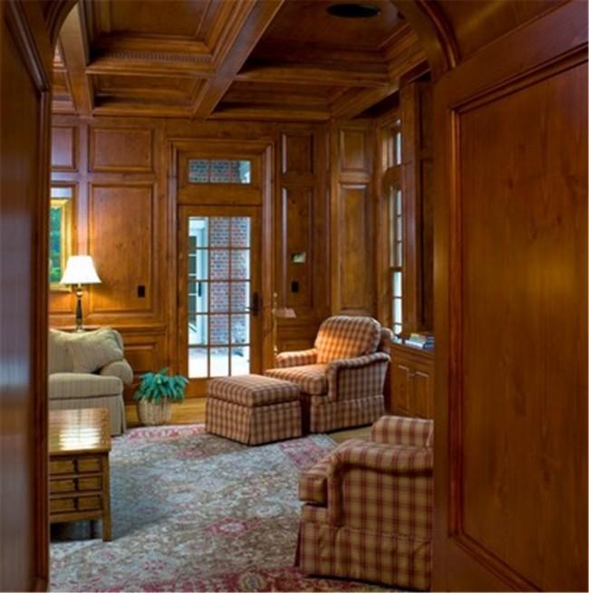 Boiserie su misura in legno tinto stile classico in vendita a roma - Interni casa classica ...