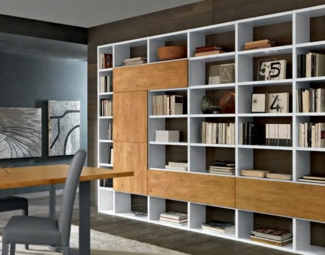 Libreria Moderna Laccata Bianca.Cm60 Libreria