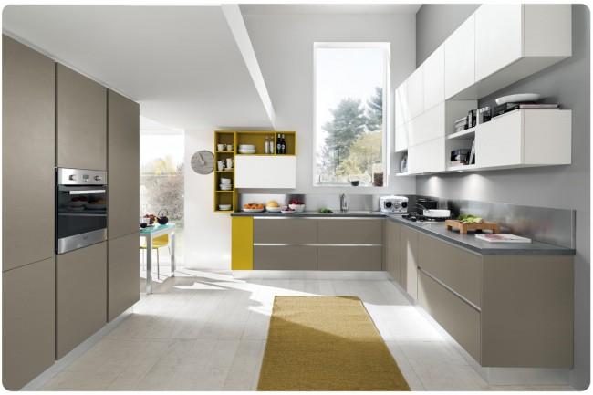 Cucina moderna opaca su misura in vendita a roma for Cucina moderna altezza