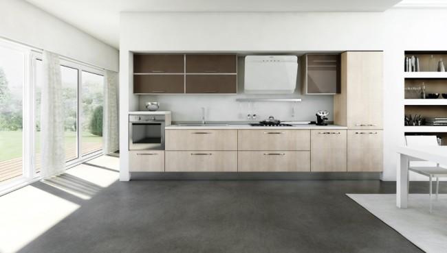 Cucina Moderna Lineare.Legno Ingegno