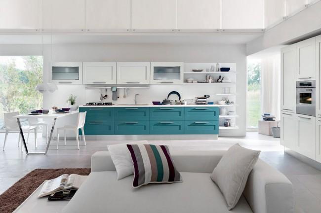 Cucina moderna laccata bicolore in vendita a roma for Oggetti per cucina moderna