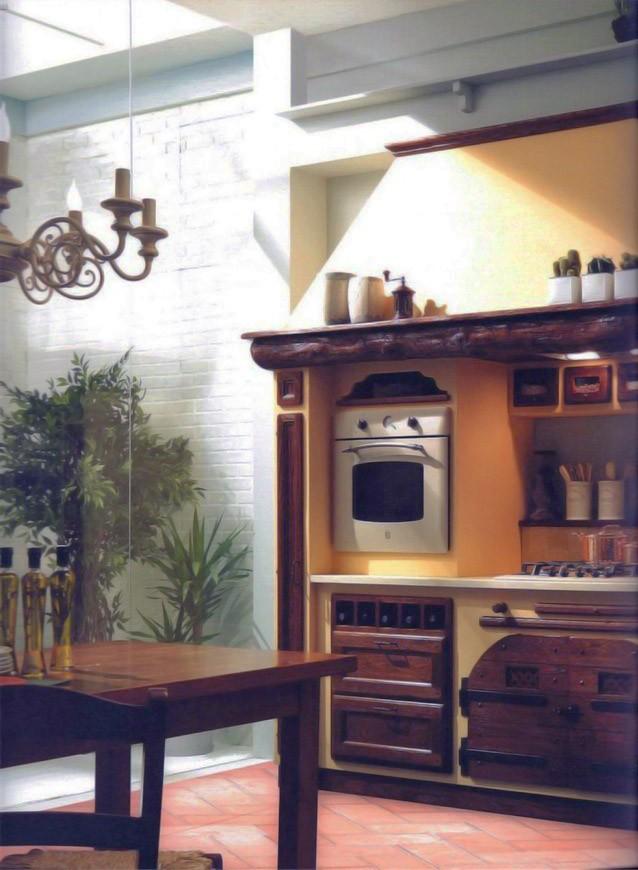 Cucina stile classico su misura in legno