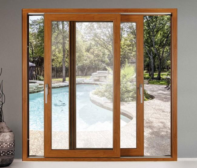 Infissi con apertura scorrevole alzante in pvc schuco - Porta finestra scorrevole ...