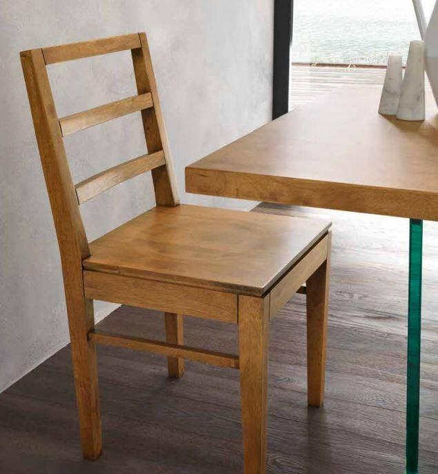 Sedia in Legno Moderna, Mod. Tess FGF, in Legno Massello