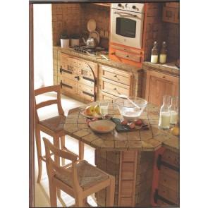Cucina rustica in vero legno tinto