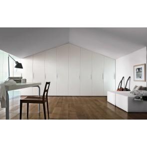 armadio stile moderno laccato bianco