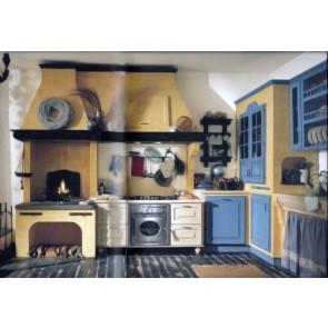 Cucina Su misura stile classico laccata bicolore