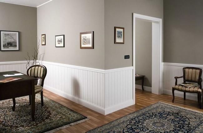 Boiserie su misura in legno stile moderno in vendita a roma for Casa moderna bianca