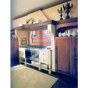 Cucina su misura classica, in legno tinto