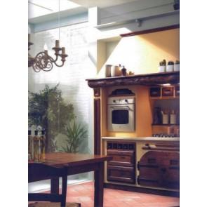 Cucina stile classico su misura in legno tinto