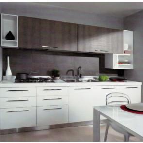 Cucine GEA Effe2 bianca e laminato effetto legno