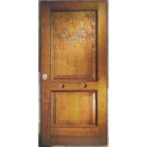 Porta blindata in legno con decorazione